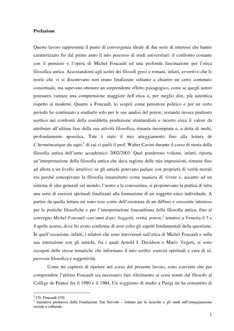 Anteprima della tesi: ''Cura Te Stesso'': L'imperativo socratico (d')après Foucault, Pagina 1