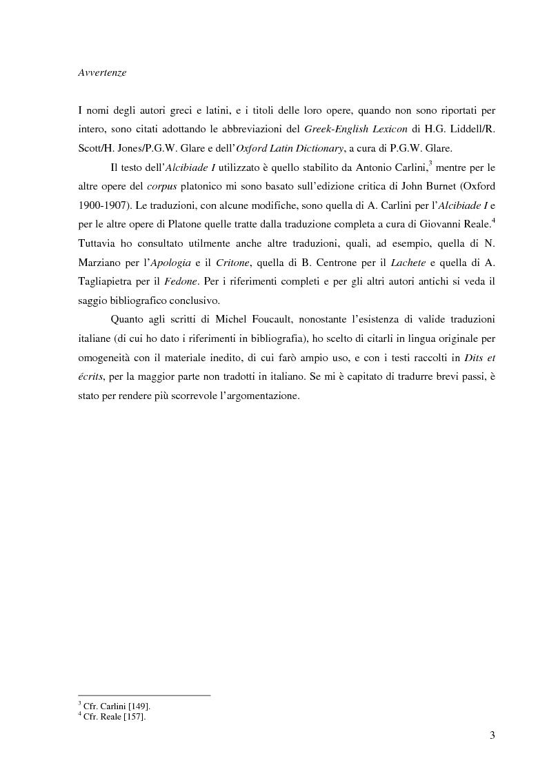Anteprima della tesi: ''Cura Te Stesso'': L'imperativo socratico (d')après Foucault, Pagina 3