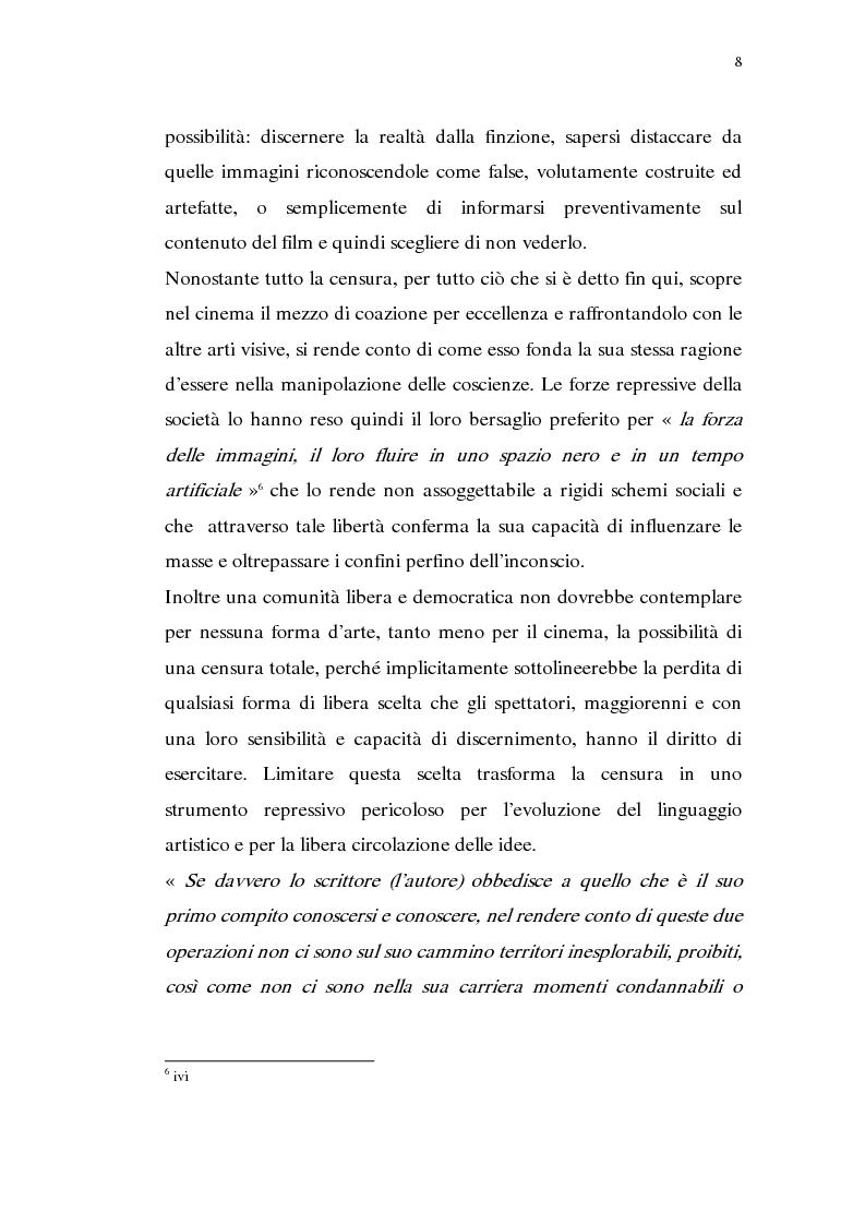 Anteprima della tesi: Madama Anastasia. La censura e il cinema, Pagina 6