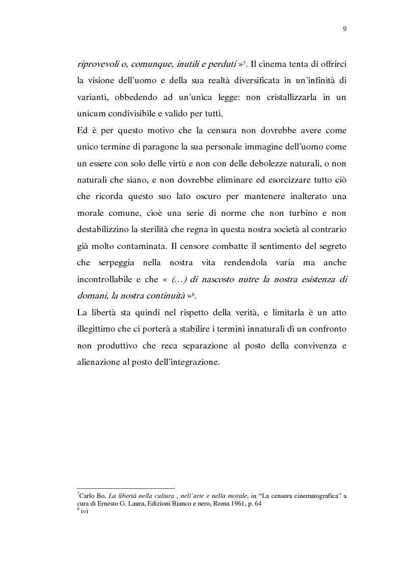 Anteprima della tesi: Madama Anastasia. La censura e il cinema, Pagina 7