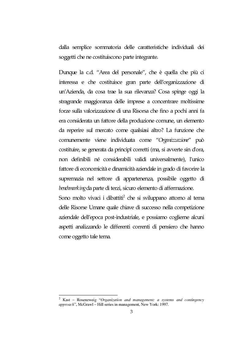 Anteprima della tesi: Le Risorse Umane quale fattore strategico nella competizione aziendale futura: le aziende di TLC., Pagina 3
