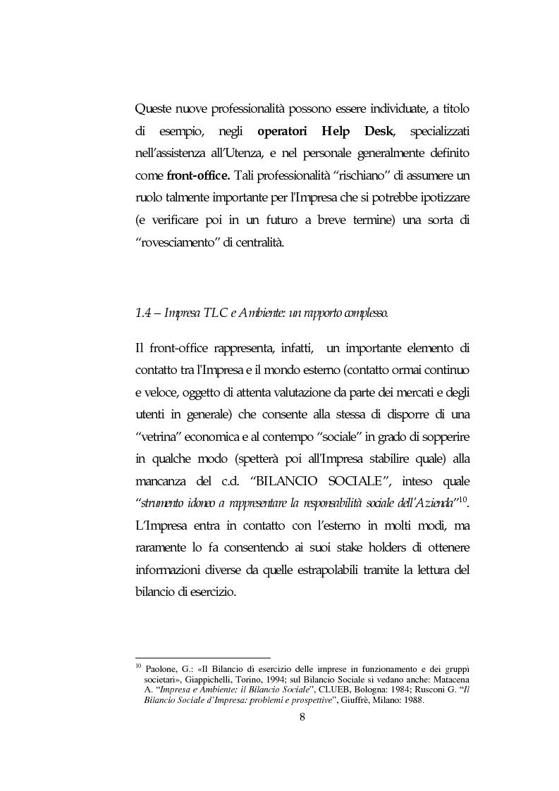 Anteprima della tesi: Le Risorse Umane quale fattore strategico nella competizione aziendale futura: le aziende di TLC., Pagina 8