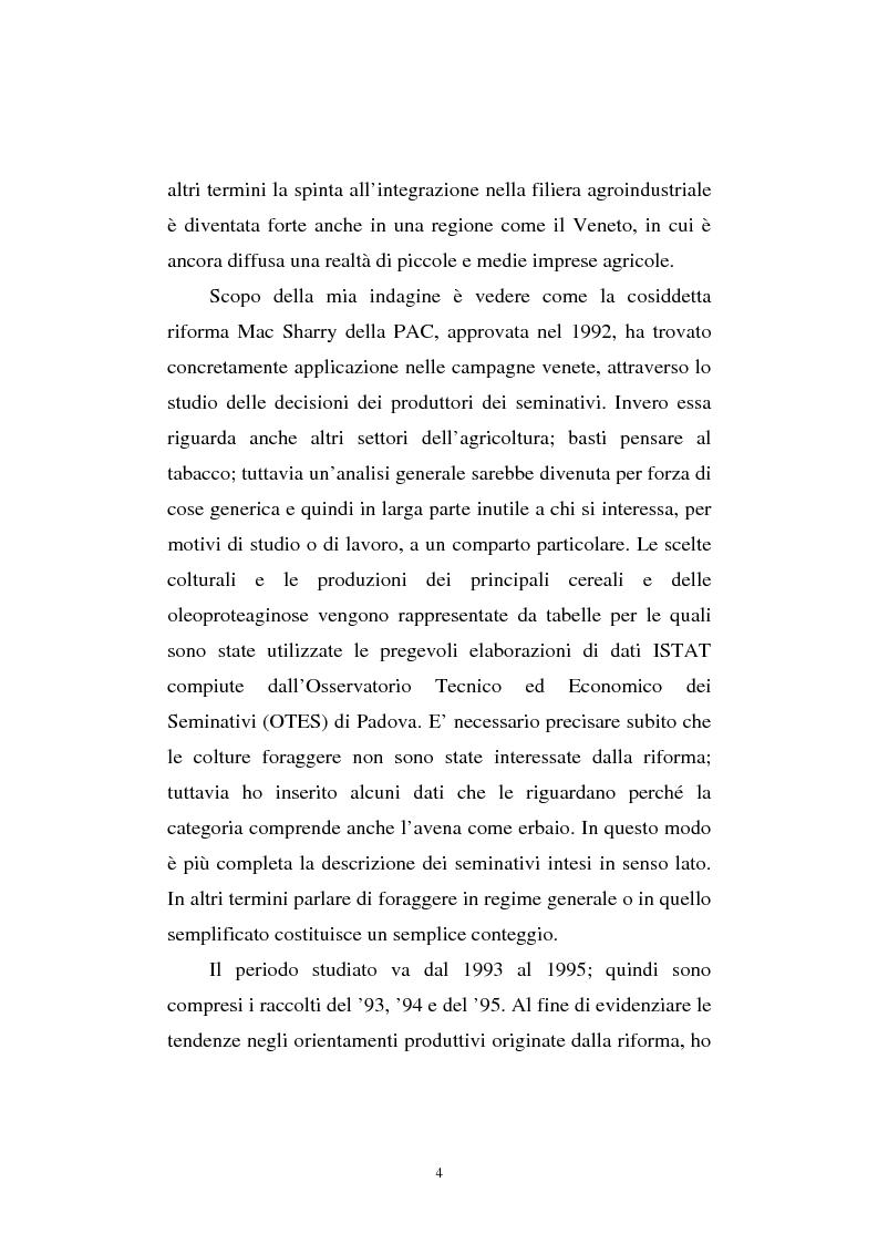 Anteprima della tesi: La riforma Mac Sharry nel Veneto: un'analisi del settore dei seminativi, Pagina 2