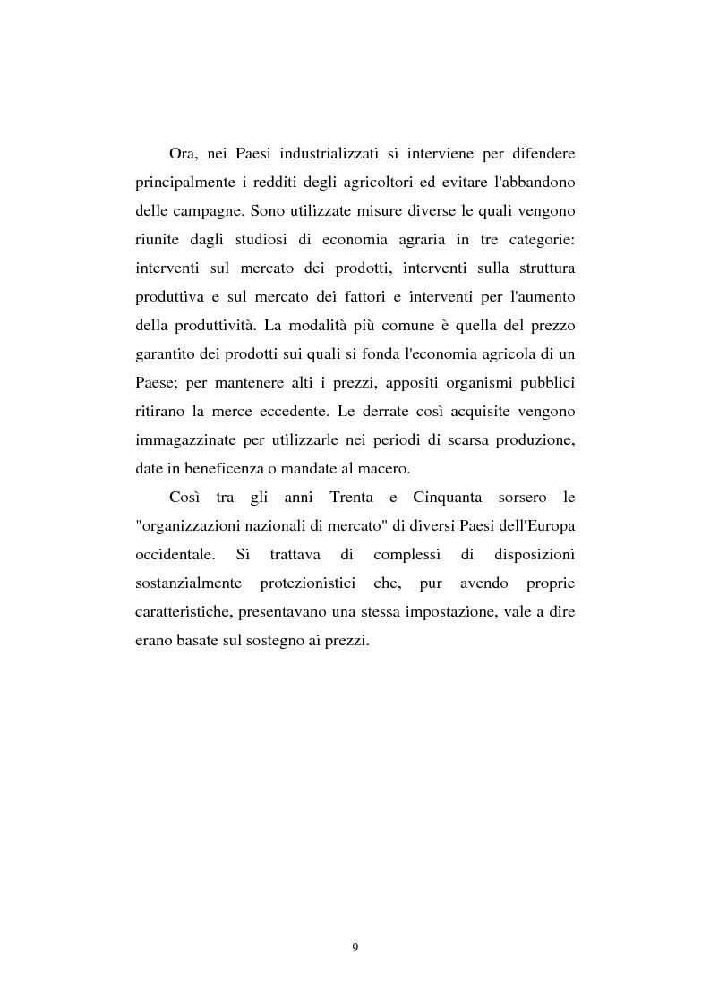 Anteprima della tesi: La riforma Mac Sharry nel Veneto: un'analisi del settore dei seminativi, Pagina 7