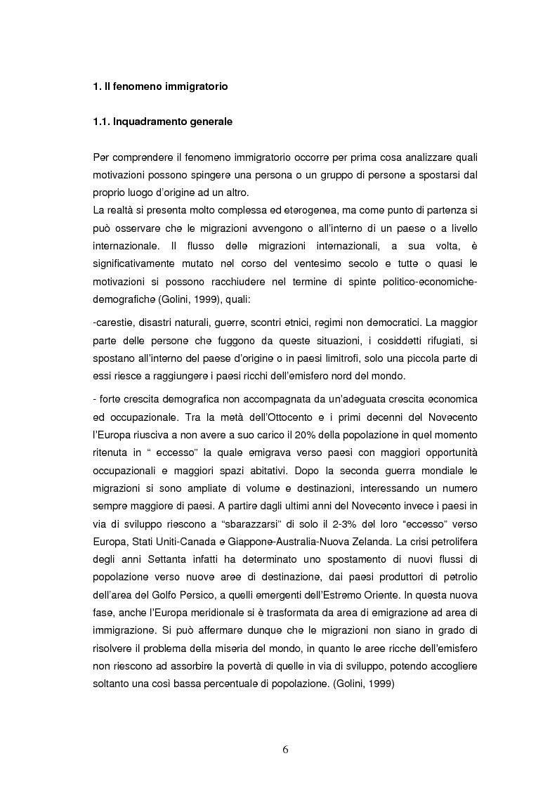 Anteprima della tesi: Integrazione socioeconomica degli immigrati in Lombardia, Pagina 3
