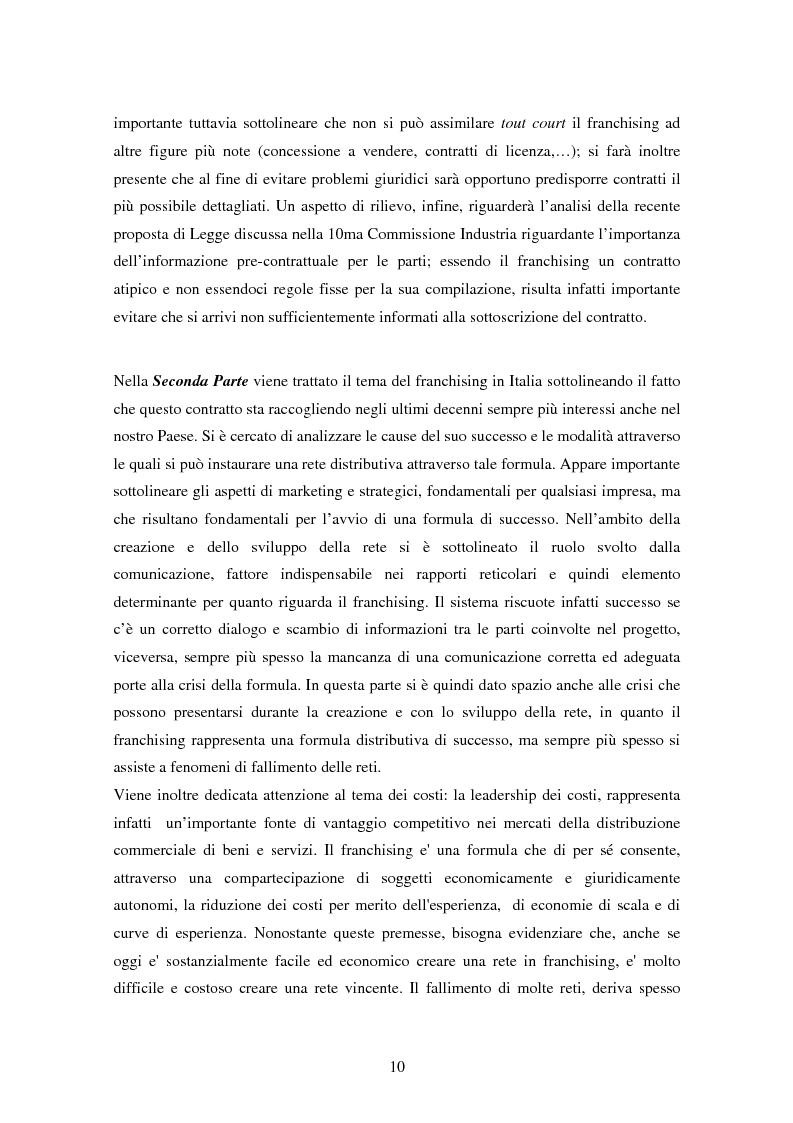 Anteprima della tesi: La formula del franchising nell'evoluzione del settore commerciale, Pagina 4