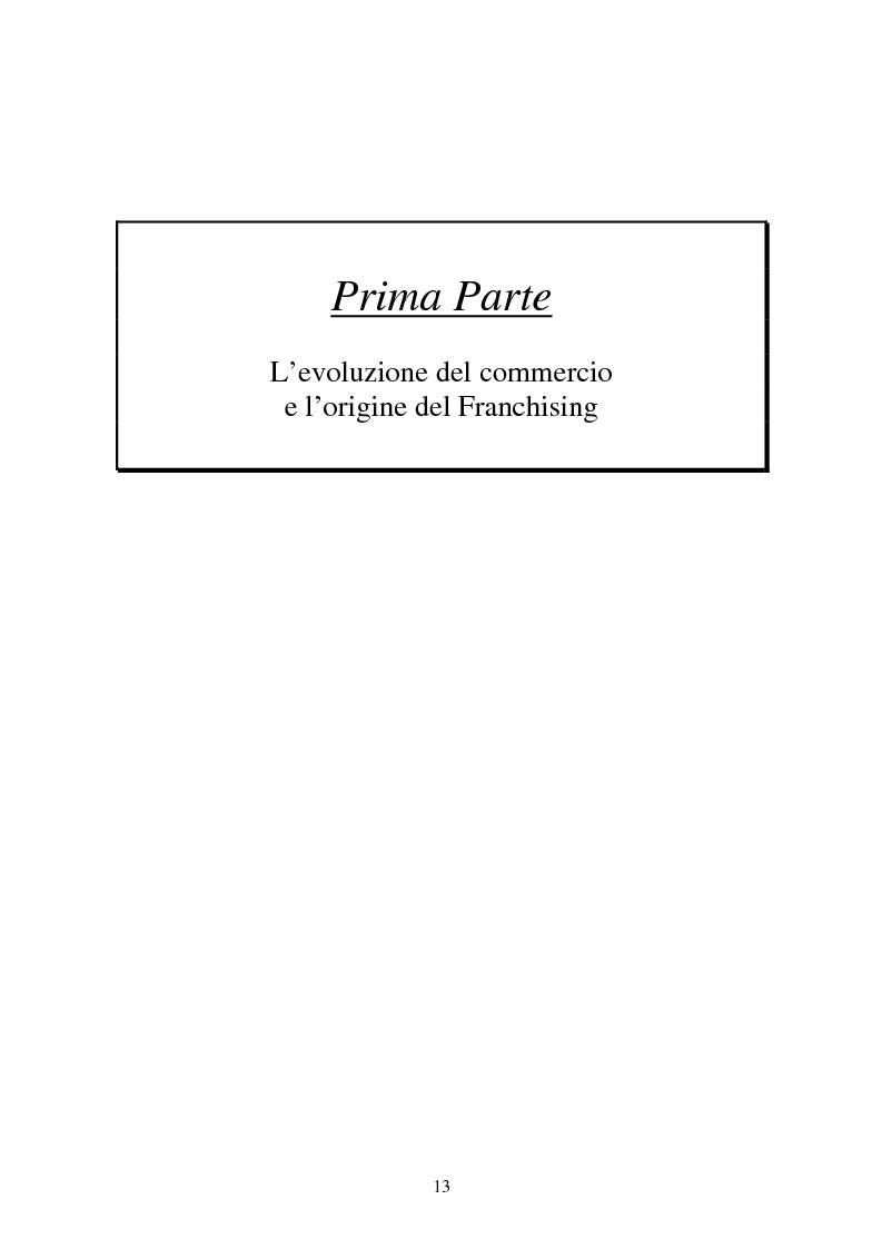 Anteprima della tesi: La formula del franchising nell'evoluzione del settore commerciale, Pagina 7