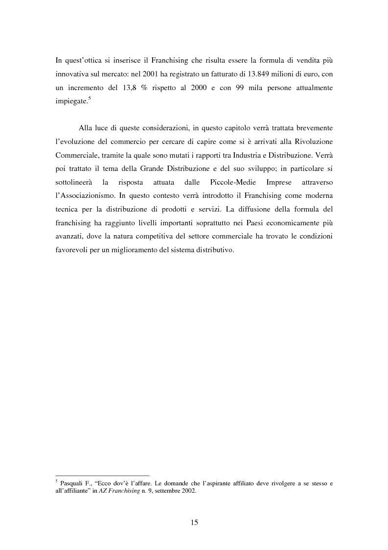 Anteprima della tesi: La formula del franchising nell'evoluzione del settore commerciale, Pagina 9