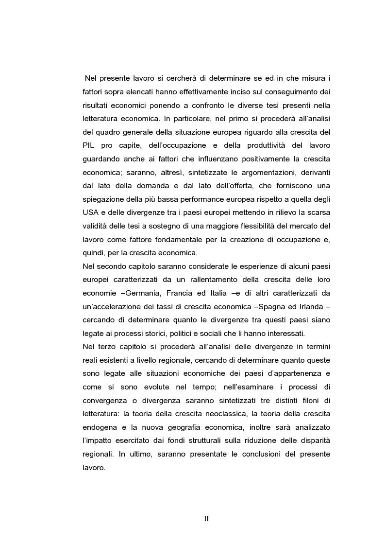 Anteprima della tesi: La crescita economica europea, Pagina 2
