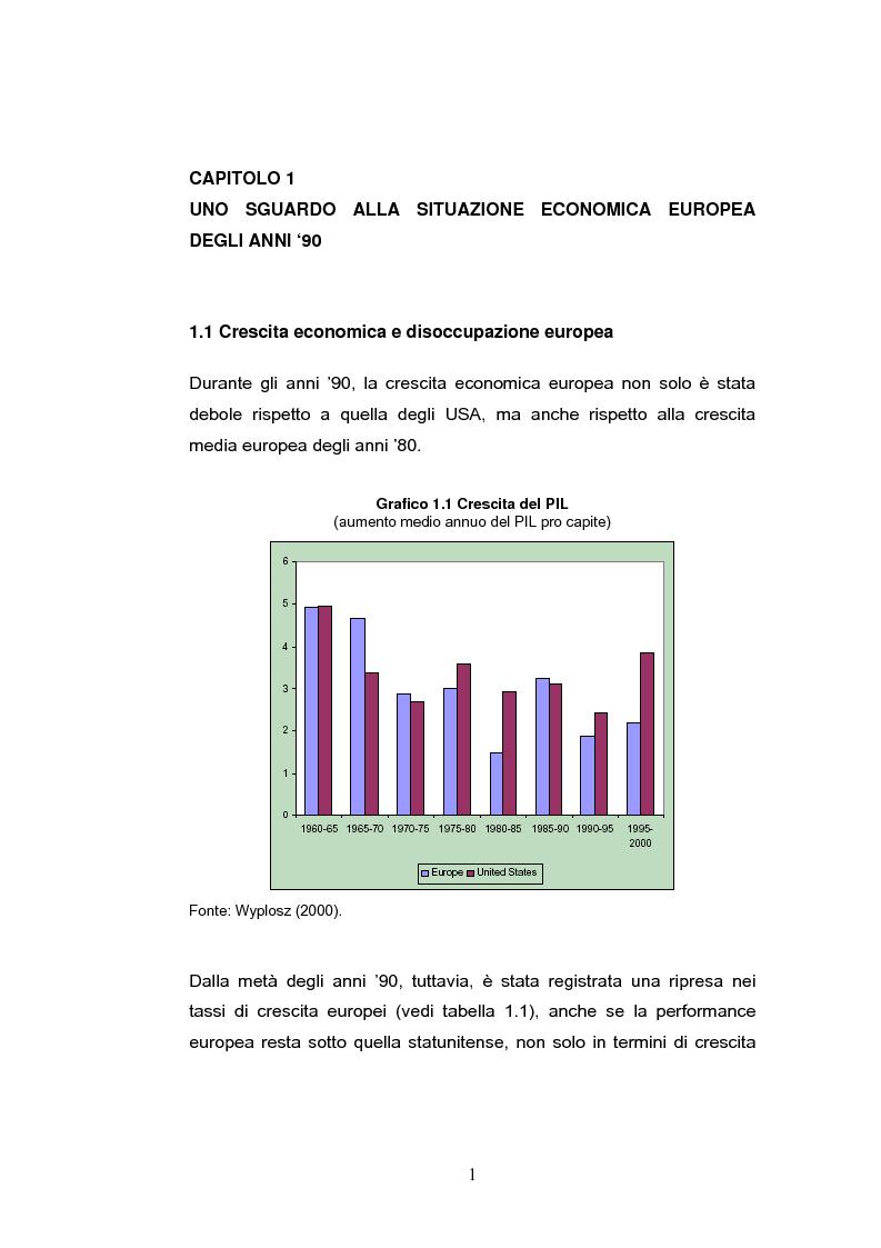 Anteprima della tesi: La crescita economica europea, Pagina 3