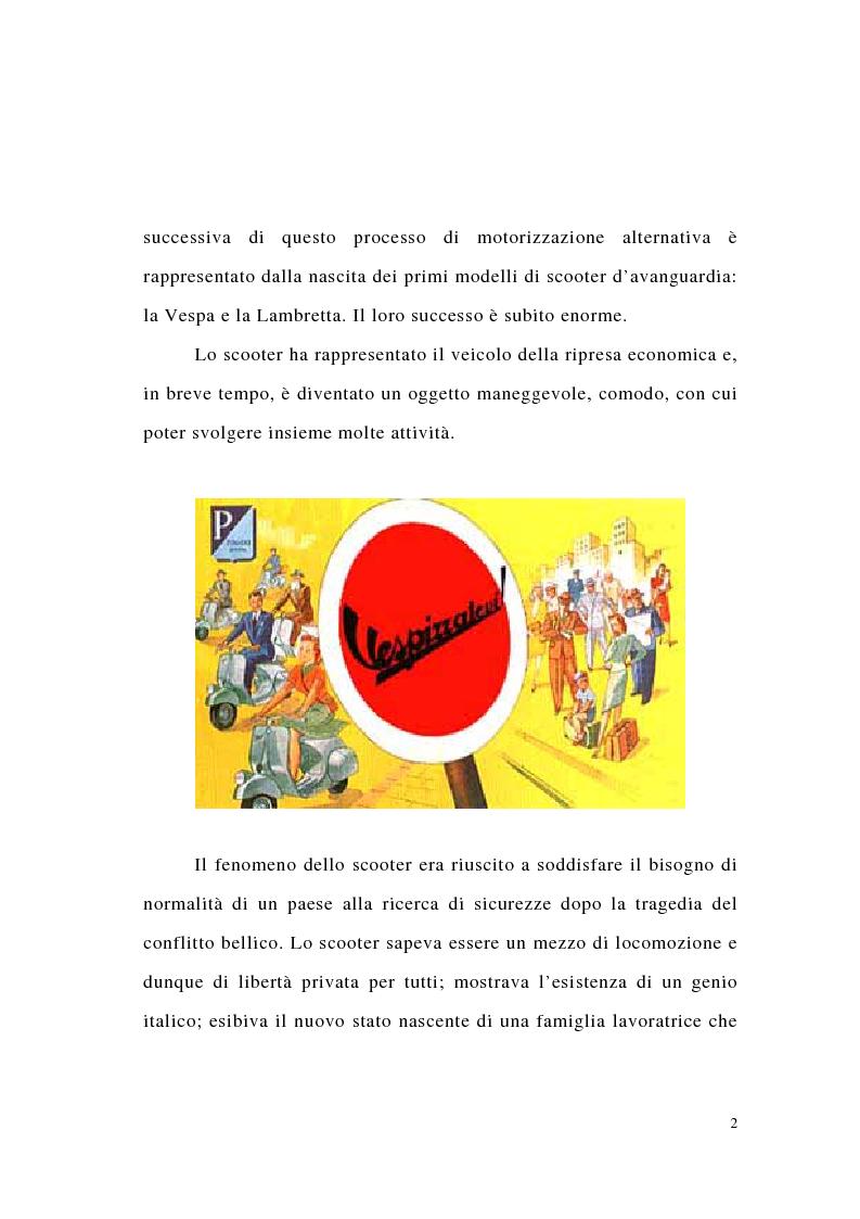 Anteprima della tesi: L'evoluzione del marketing degli scooter: il caso Honda., Pagina 2