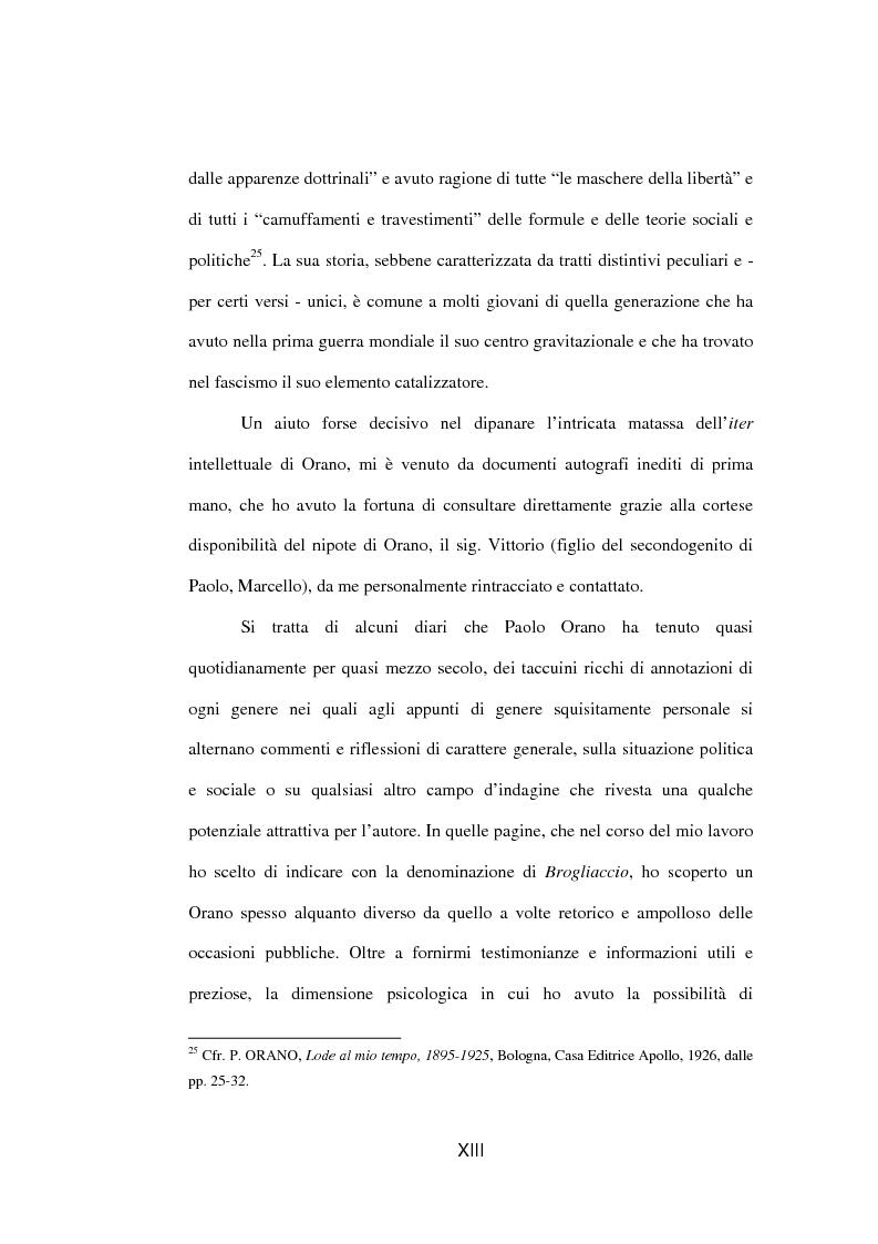 Anteprima della tesi: Il fascista Paolo Orano, giornalista e primo storico del giornalismo (1919-1945), Pagina 10