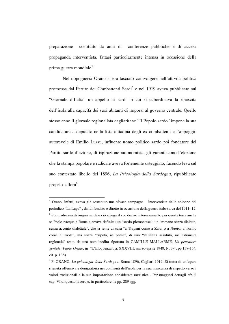 Anteprima della tesi: Il fascista Paolo Orano, giornalista e primo storico del giornalismo (1919-1945), Pagina 15