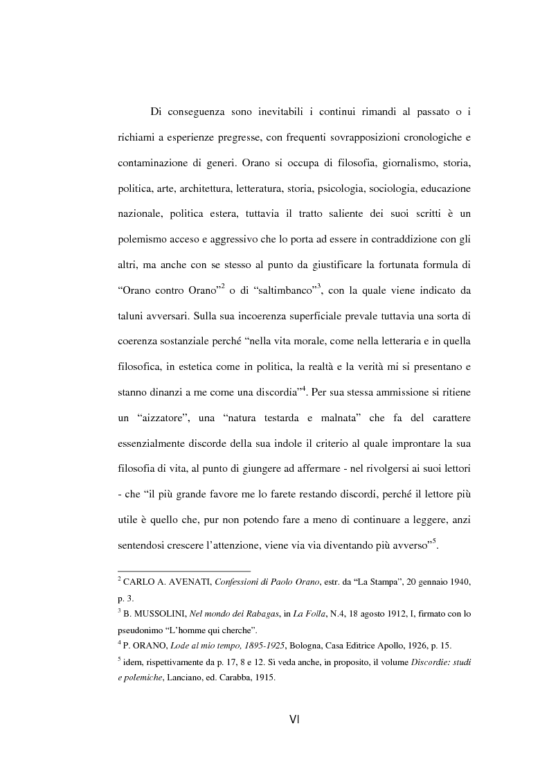 Anteprima della tesi: Il fascista Paolo Orano, giornalista e primo storico del giornalismo (1919-1945), Pagina 3