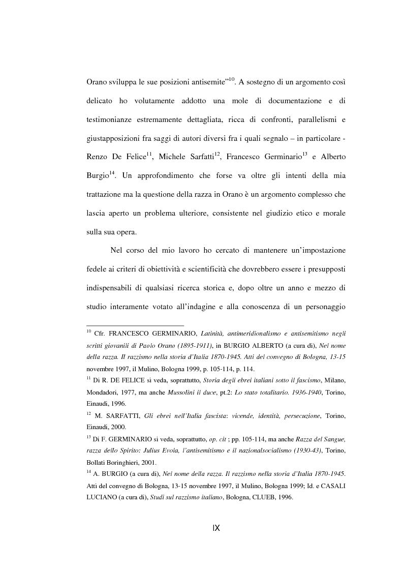 Anteprima della tesi: Il fascista Paolo Orano, giornalista e primo storico del giornalismo (1919-1945), Pagina 6
