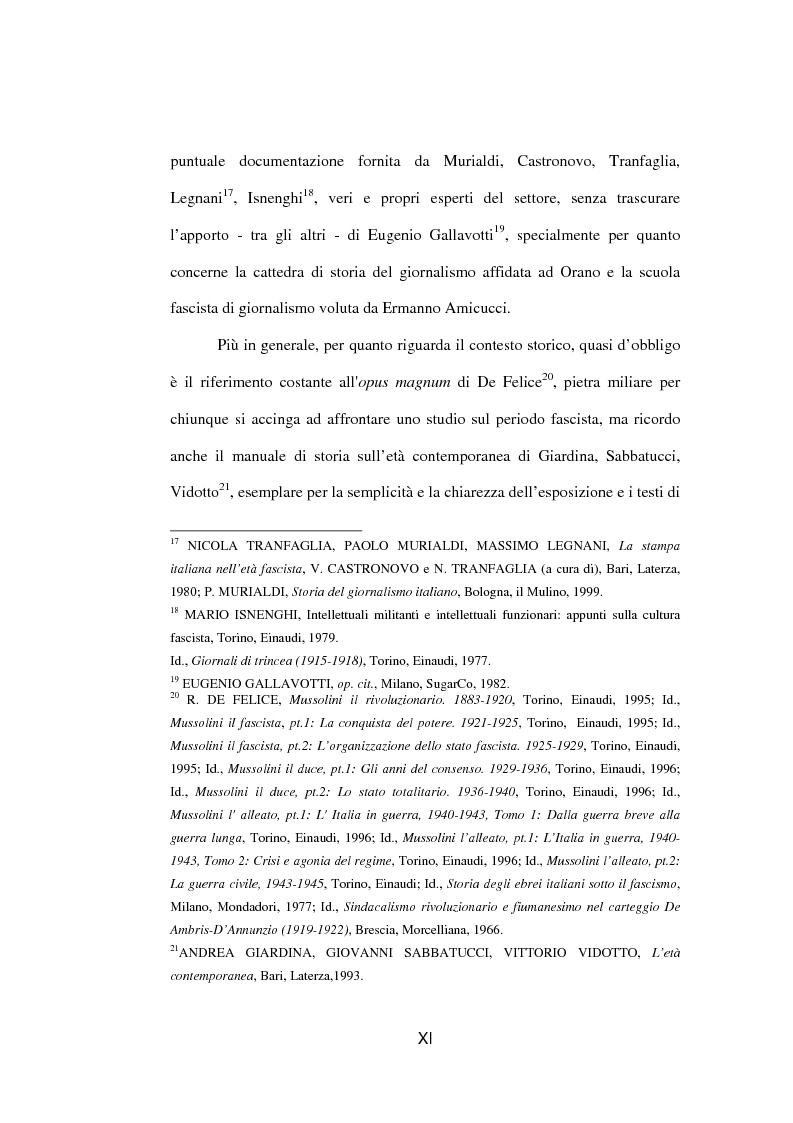 Anteprima della tesi: Il fascista Paolo Orano, giornalista e primo storico del giornalismo (1919-1945), Pagina 8