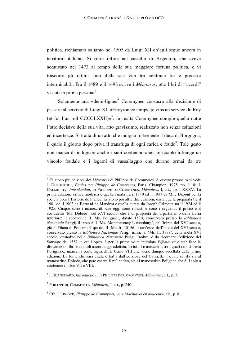 Anteprima della tesi: Storia e testimonianza: i Mémoires di Philippe de Commynes (1447-1511), Pagina 11
