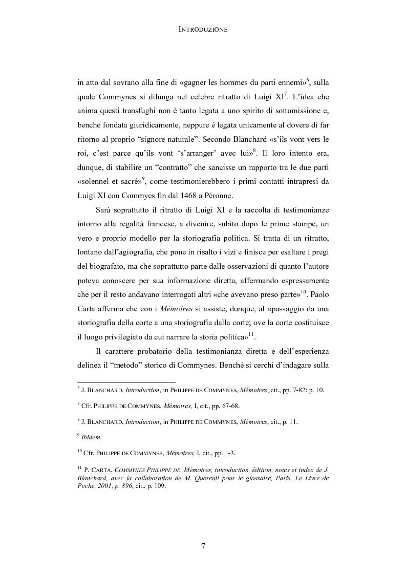 Anteprima della tesi: Storia e testimonianza: i Mémoires di Philippe de Commynes (1447-1511), Pagina 3