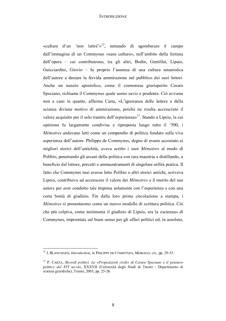 Anteprima della tesi: Storia e testimonianza: i Mémoires di Philippe de Commynes (1447-1511), Pagina 4
