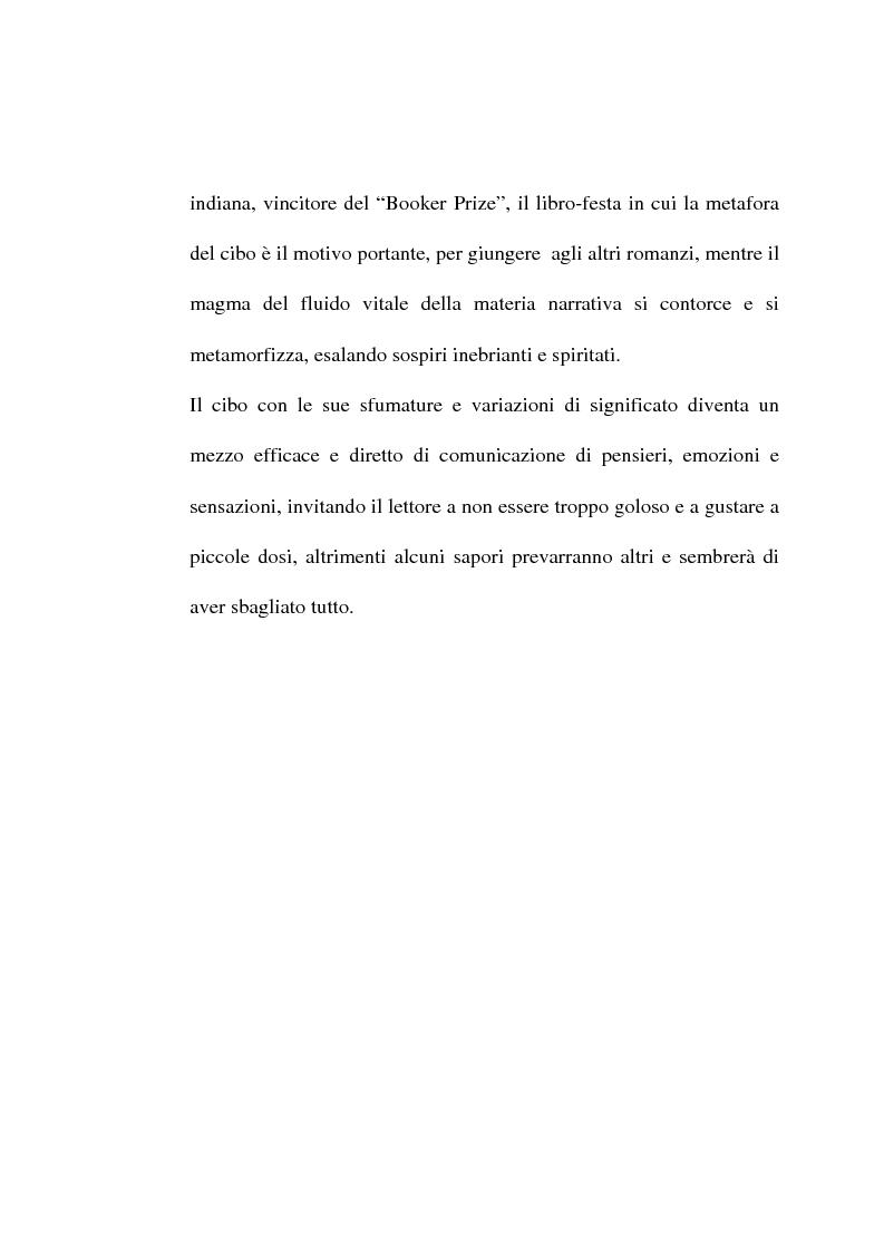 Anteprima della tesi: Le metafore culinarie nella narrativa di Salman Rushdie, Pagina 4