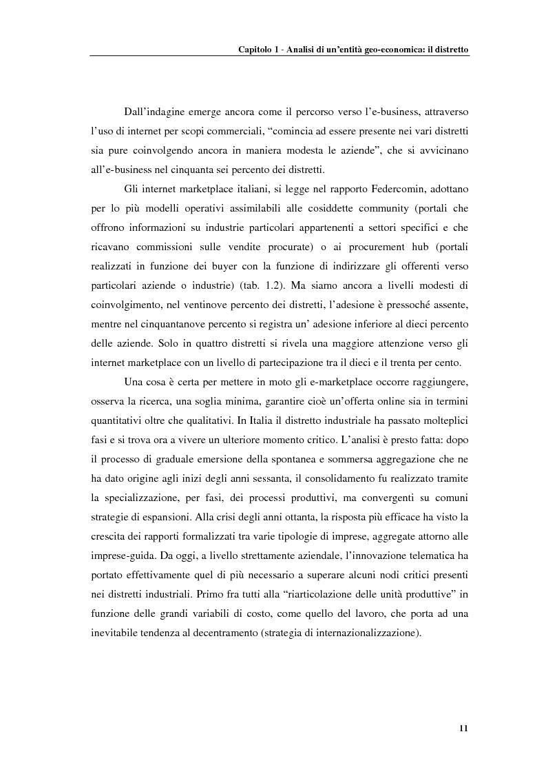 Anteprima della tesi: Distretti produttivi, prerequisiti ambientali e apprendimento. Un'analisi del polo di Barletta, Pagina 11