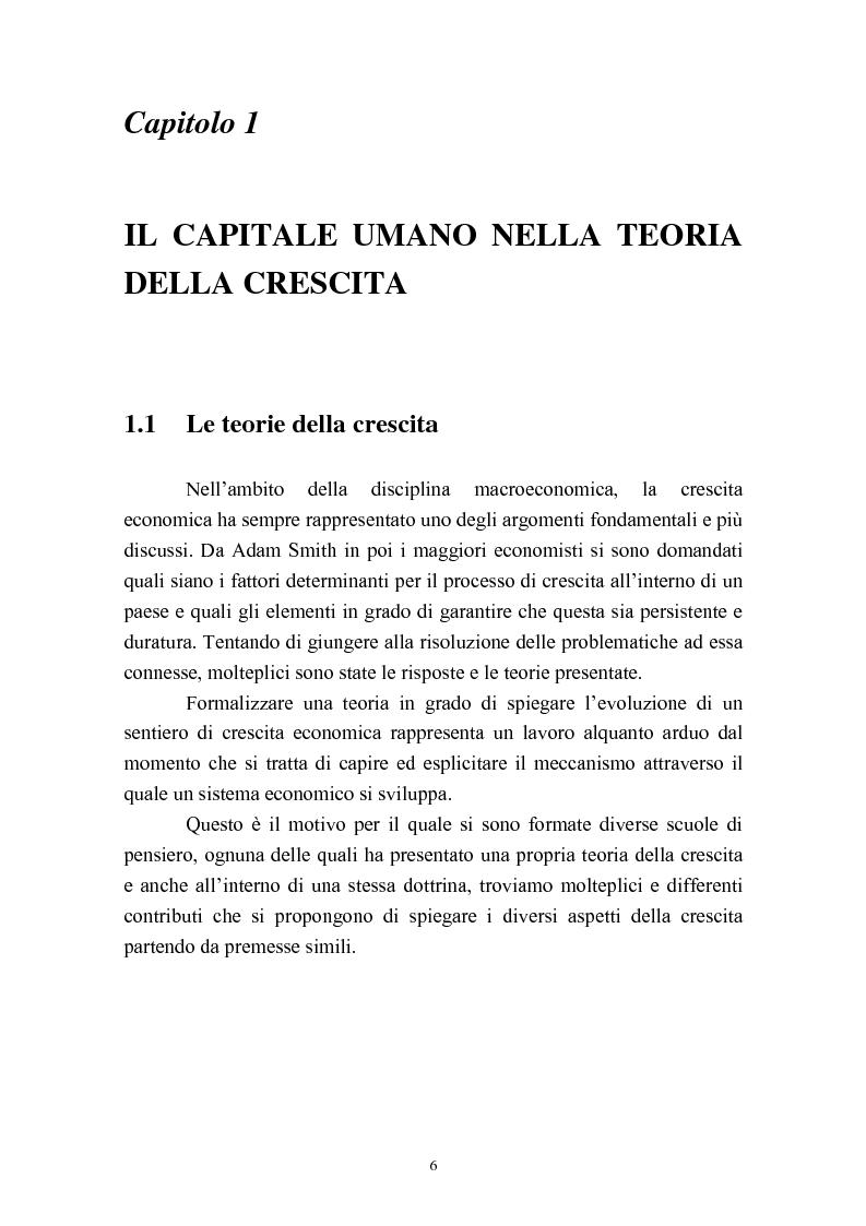 Anteprima della tesi: Capitale umano e crescita economica. Il caso della Spagna nel periodo 1970-2000., Pagina 3