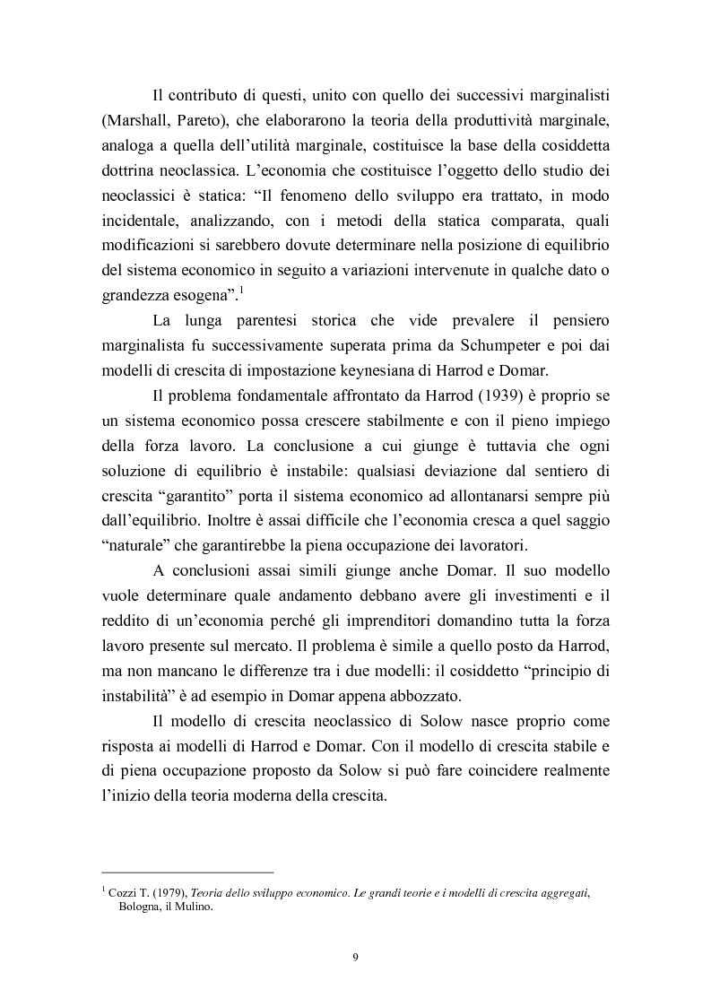 Anteprima della tesi: Capitale umano e crescita economica. Il caso della Spagna nel periodo 1970-2000., Pagina 6