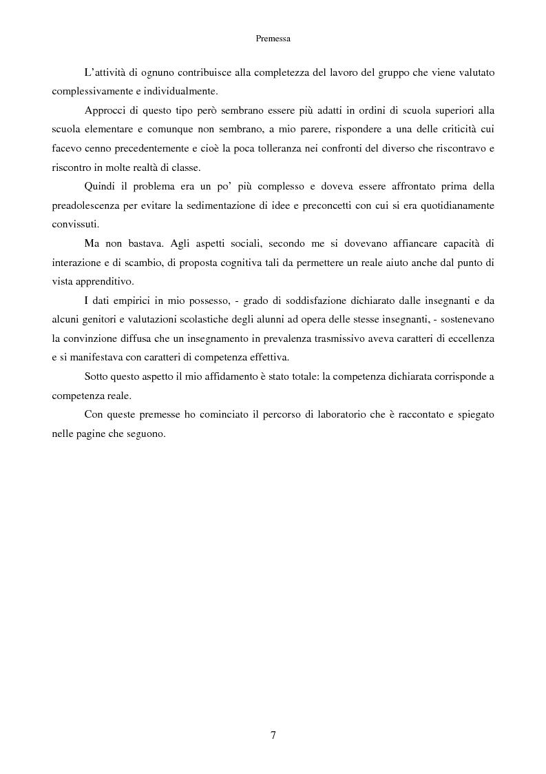 Anteprima della tesi: Scrivere fiabe insieme. Un'esperienza di tutoring tra bambini italiani e stranieri, Pagina 4