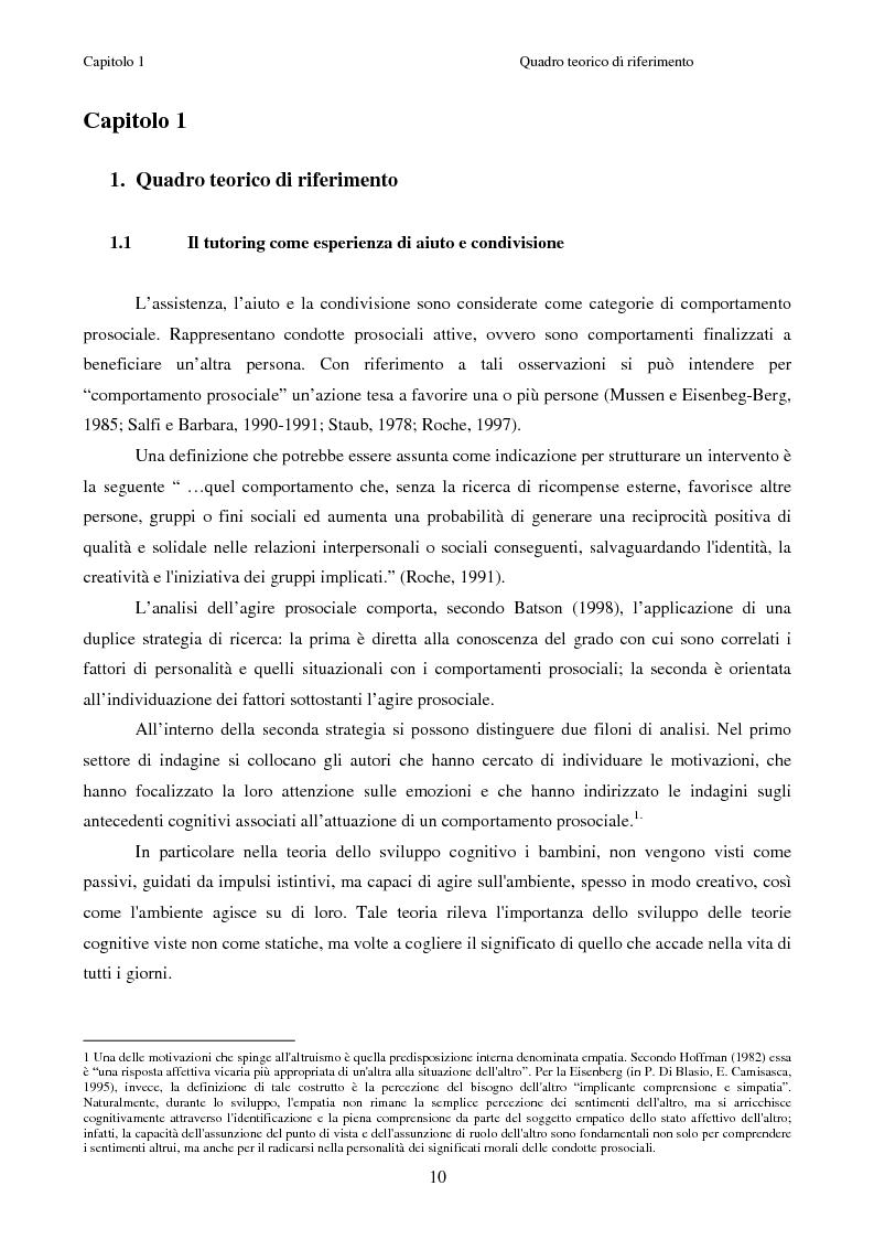 Anteprima della tesi: Scrivere fiabe insieme. Un'esperienza di tutoring tra bambini italiani e stranieri, Pagina 7