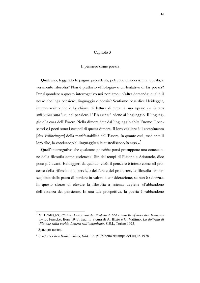 Anteprima della tesi: Heidegger e l'abitare poetico, Pagina 10