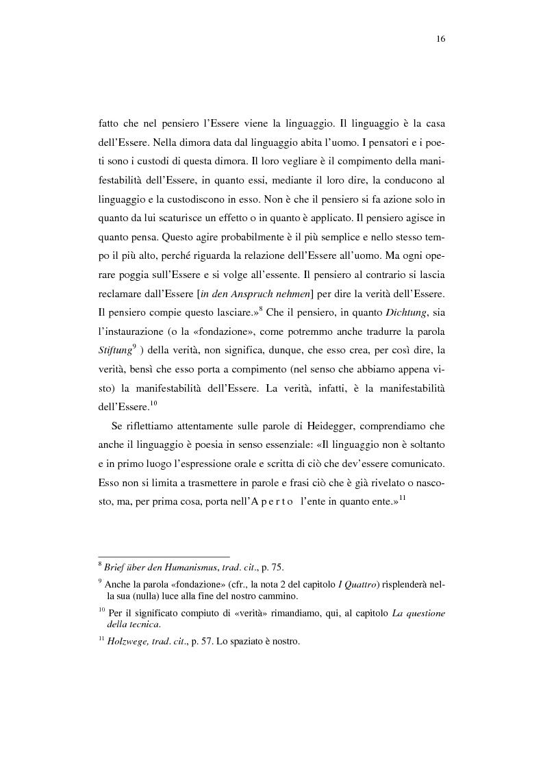 Anteprima della tesi: Heidegger e l'abitare poetico, Pagina 12