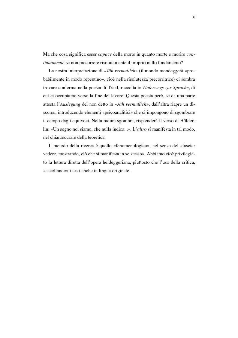Anteprima della tesi: Heidegger e l'abitare poetico, Pagina 2