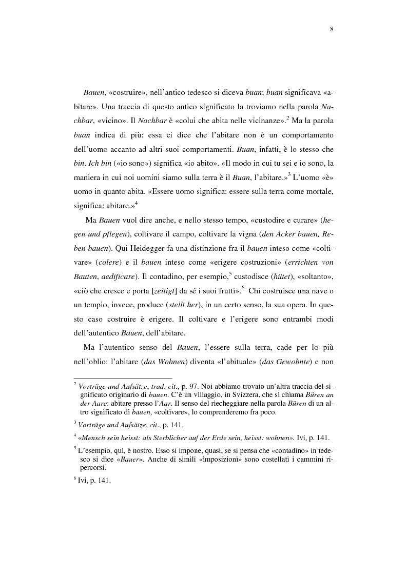 Anteprima della tesi: Heidegger e l'abitare poetico, Pagina 4