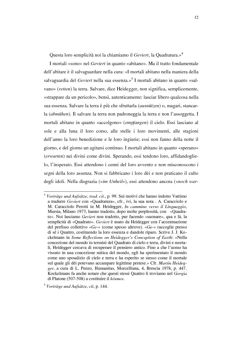 Anteprima della tesi: Heidegger e l'abitare poetico, Pagina 8