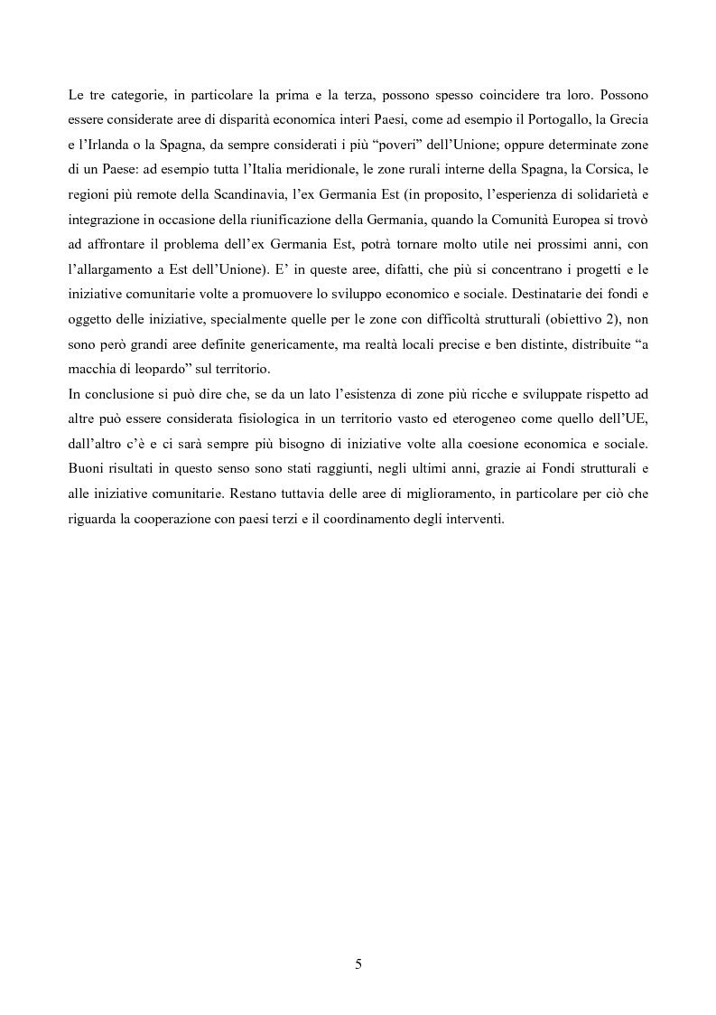 Anteprima della tesi: L'iniziativa INTERREG per favorire la cooperazione transfrontaliera, transnazionale e interregionale, Pagina 5