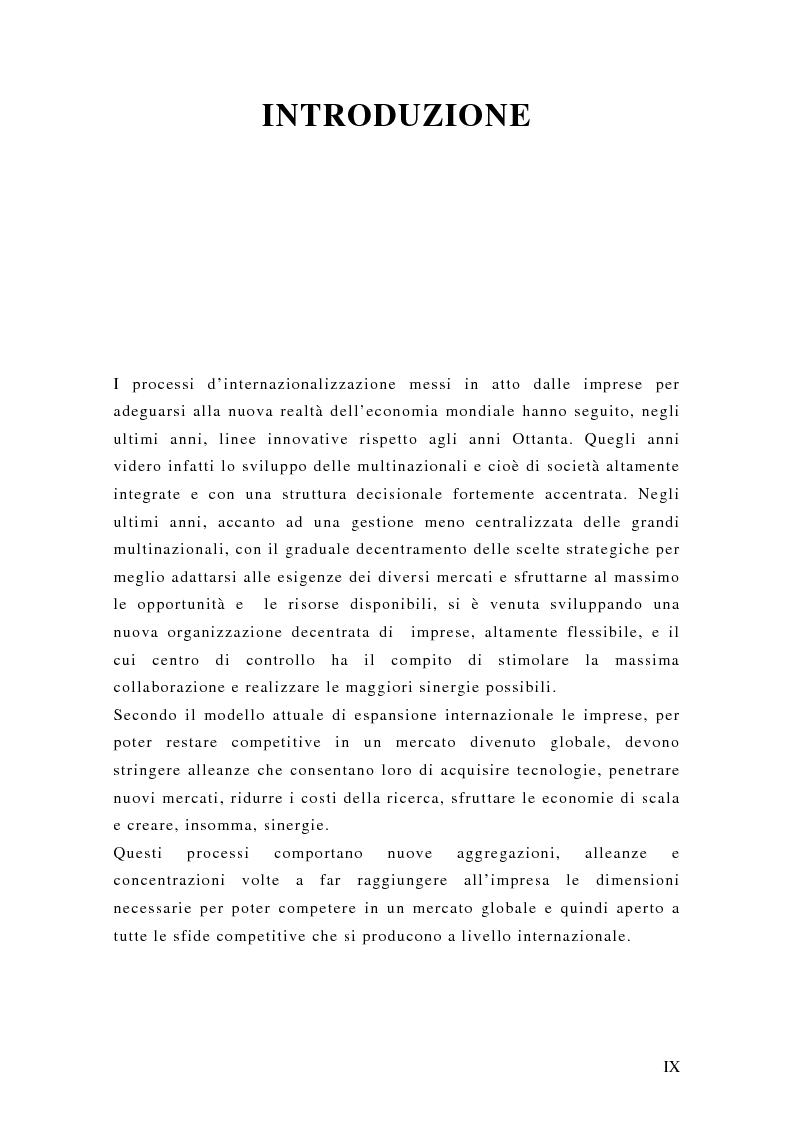 Anteprima della tesi: Il franchising internazionale nel settore moda, Pagina 1