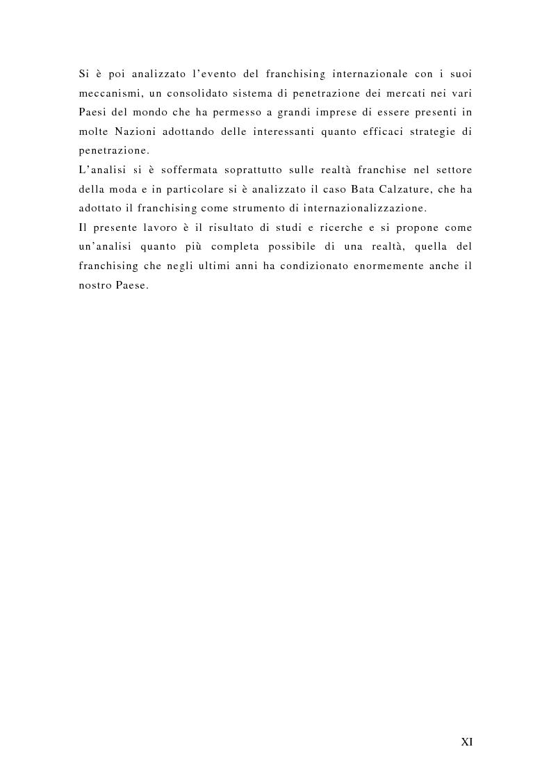 Anteprima della tesi: Il franchising internazionale nel settore moda, Pagina 3