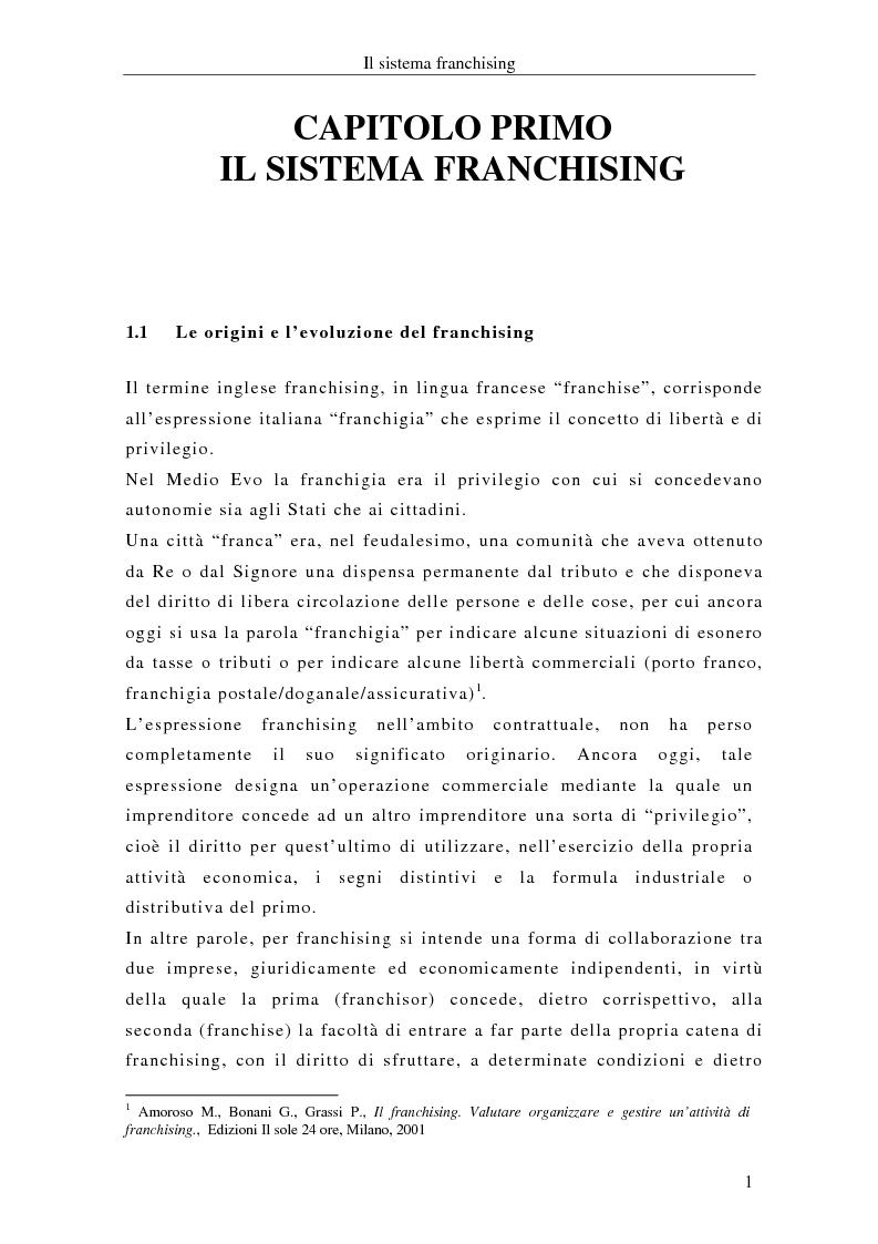 Anteprima della tesi: Il franchising internazionale nel settore moda, Pagina 4