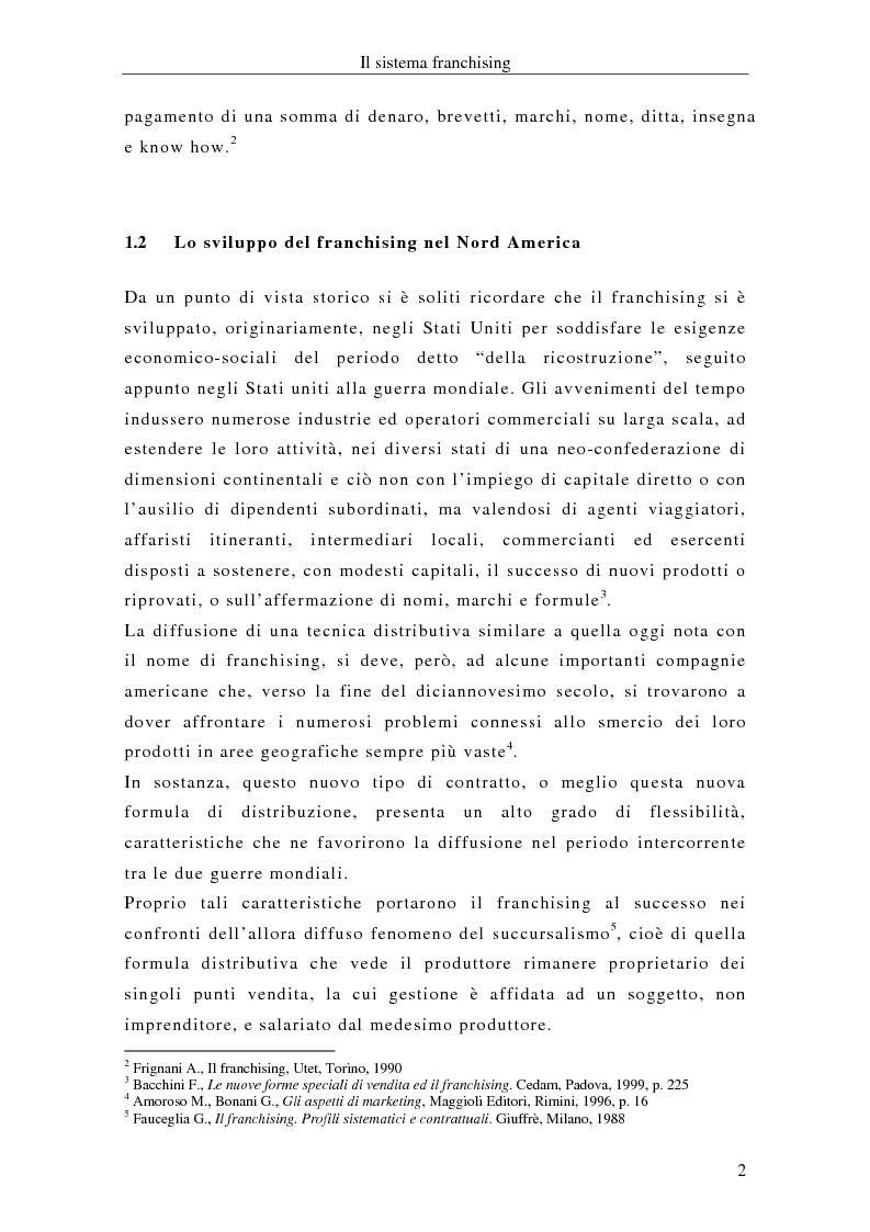 Anteprima della tesi: Il franchising internazionale nel settore moda, Pagina 5