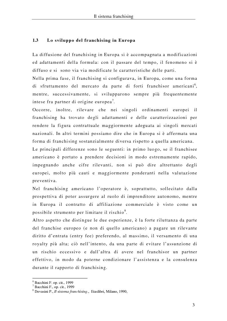 Anteprima della tesi: Il franchising internazionale nel settore moda, Pagina 6