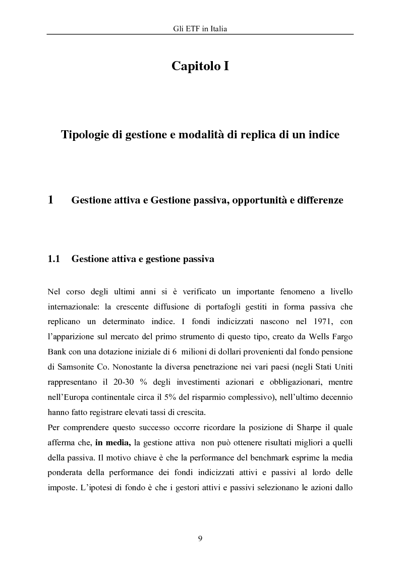 Anteprima della tesi: Gli ETF in Italia, Pagina 5