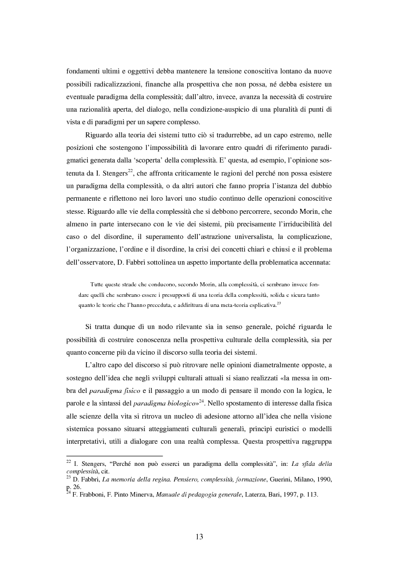Anteprima della tesi: Teoria dei sistemi e pedagogia della complessità: fondamenti, orientamenti, problemi, Pagina 10