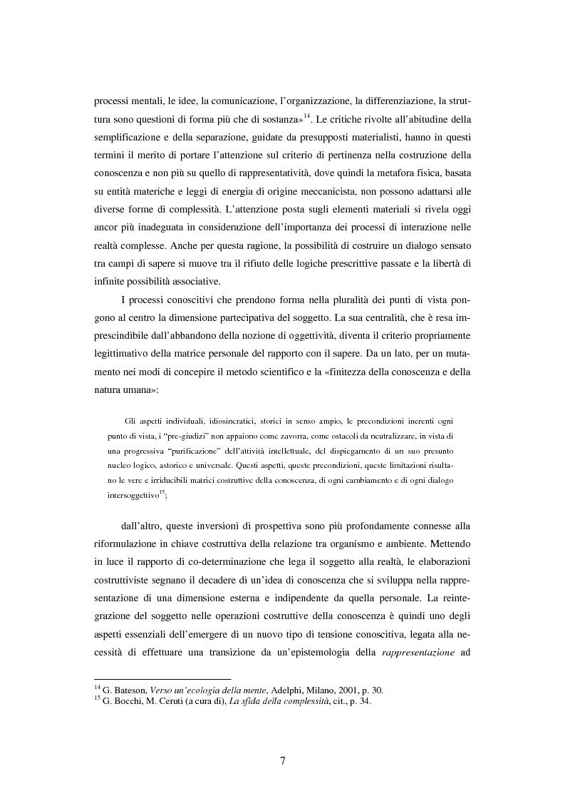 Anteprima della tesi: Teoria dei sistemi e pedagogia della complessità: fondamenti, orientamenti, problemi, Pagina 4