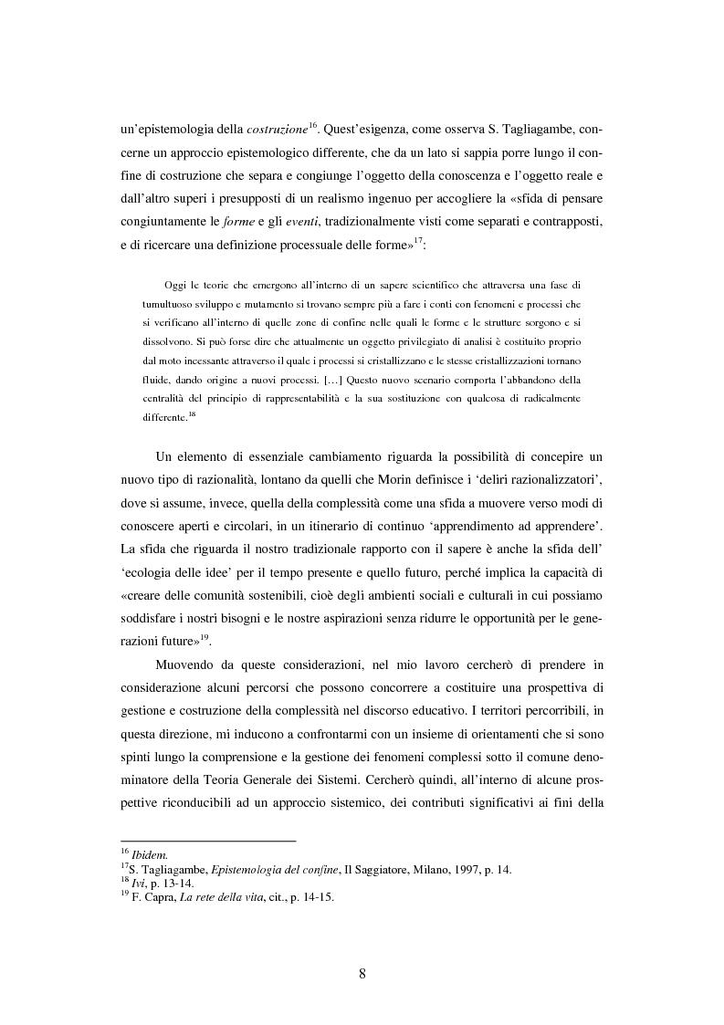 Anteprima della tesi: Teoria dei sistemi e pedagogia della complessità: fondamenti, orientamenti, problemi, Pagina 5