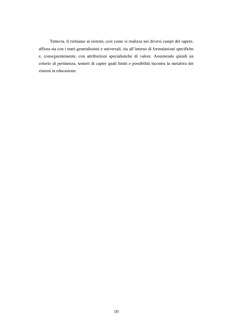 Anteprima della tesi: Teoria dei sistemi e pedagogia della complessità: fondamenti, orientamenti, problemi, Pagina 7