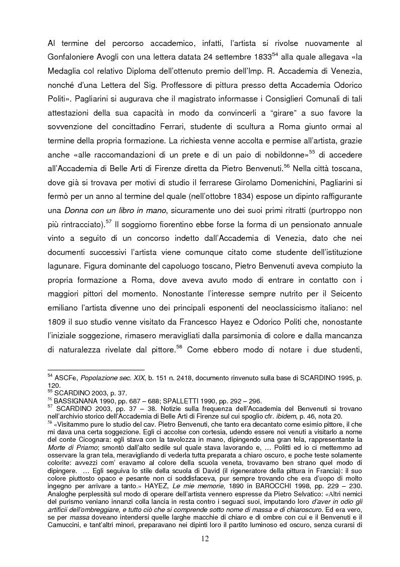 Anteprima della tesi: Un artista ferrarese a Trieste: Giovanni Pagliarini, Pagina 11