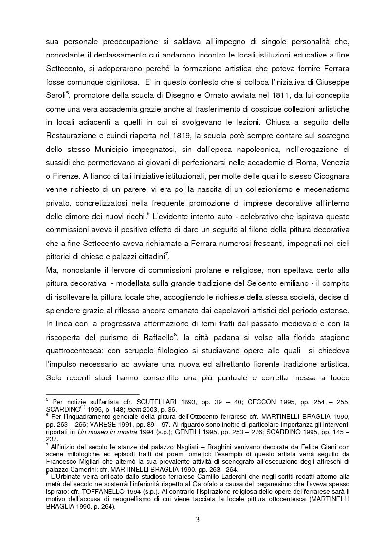 Anteprima della tesi: Un artista ferrarese a Trieste: Giovanni Pagliarini, Pagina 2
