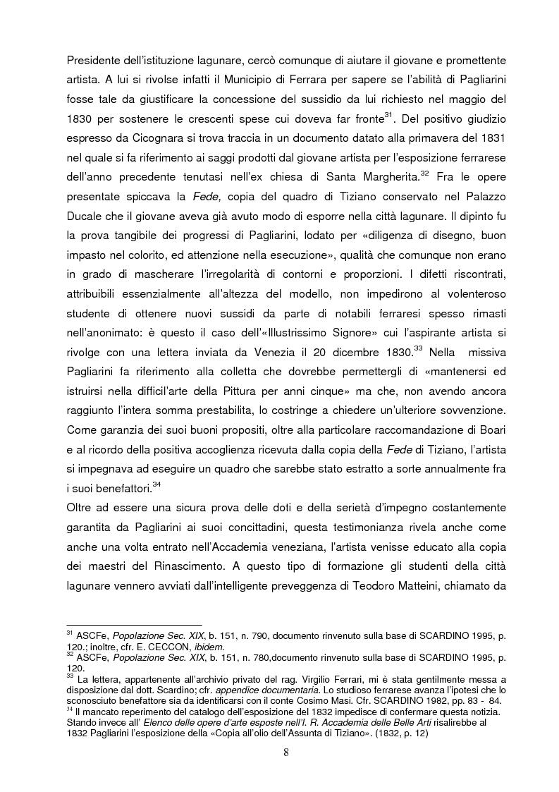 Anteprima della tesi: Un artista ferrarese a Trieste: Giovanni Pagliarini, Pagina 7
