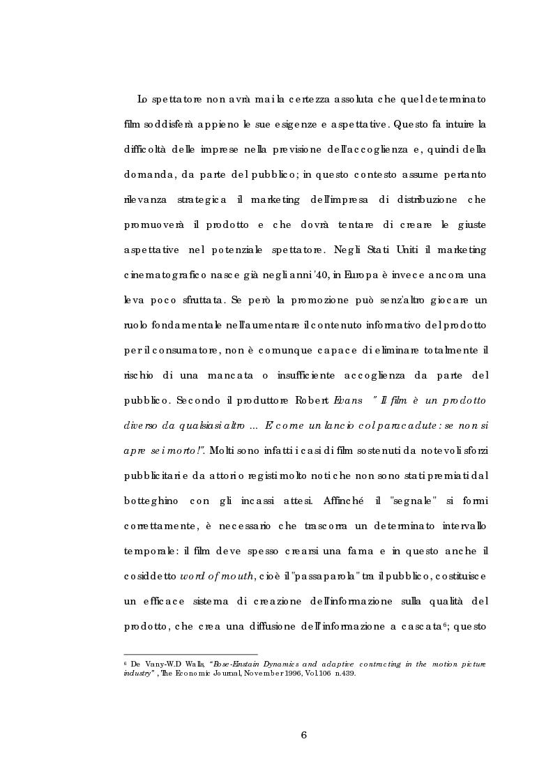 Anteprima della tesi: Problematiche gestionali delle imprese di produzione cinematografica, Pagina 10