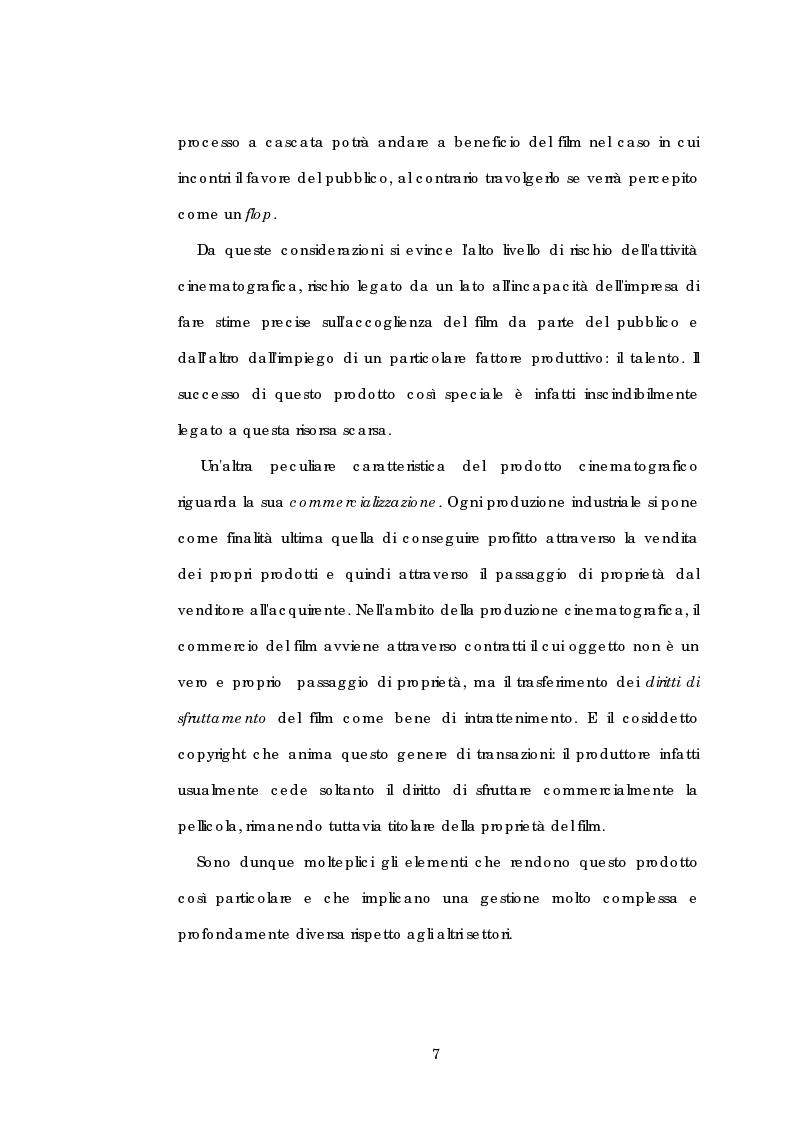 Anteprima della tesi: Problematiche gestionali delle imprese di produzione cinematografica, Pagina 11